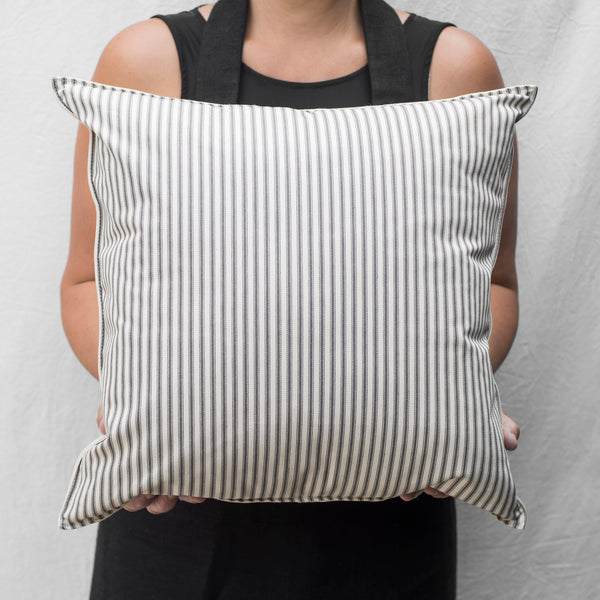 cotton ticking pillow