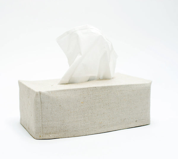 oatmeal linen tissue cover- rectangular