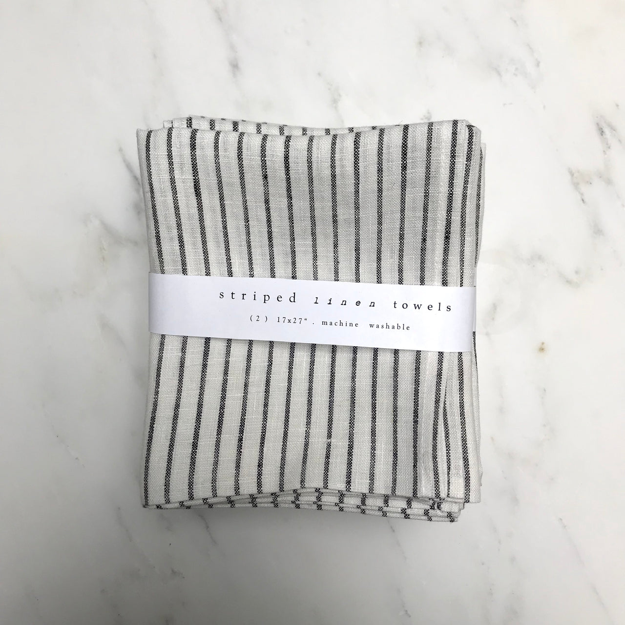 linen striped towels