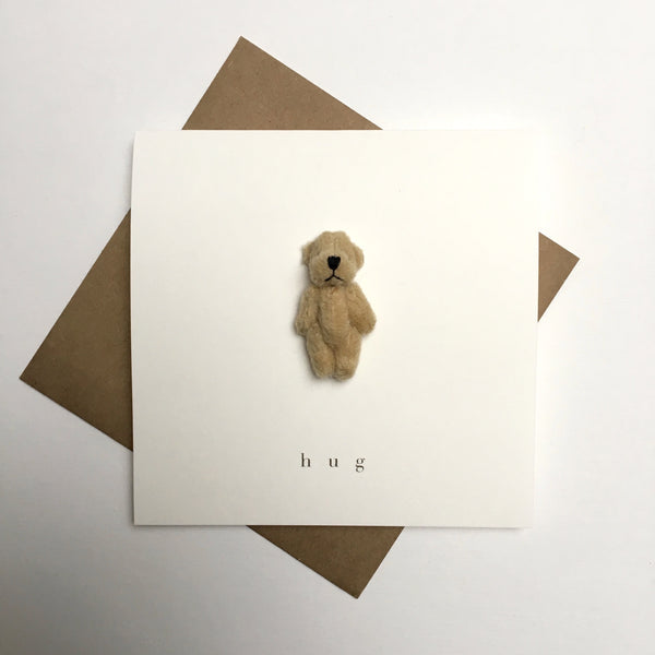 bear card - hug