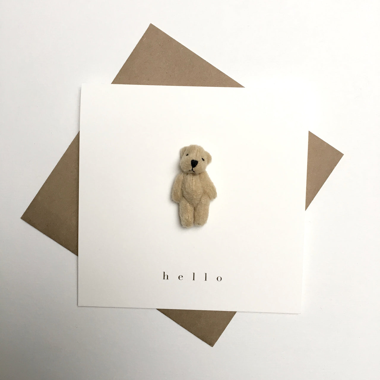 bear card - hello