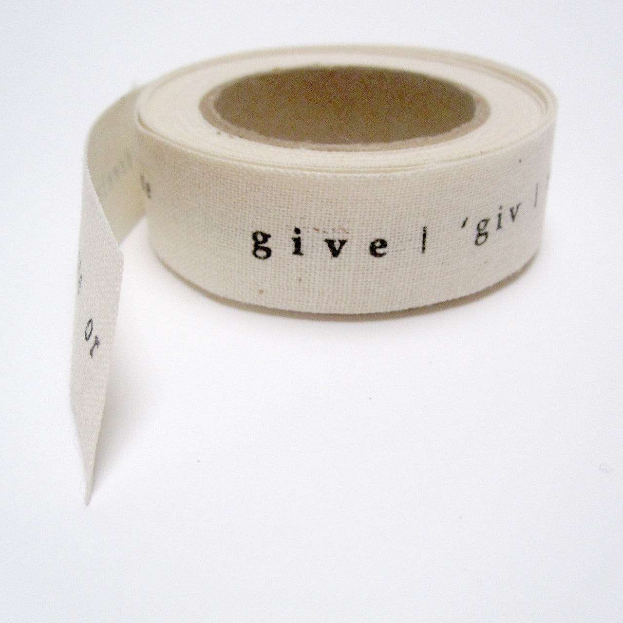 printed give ribbon