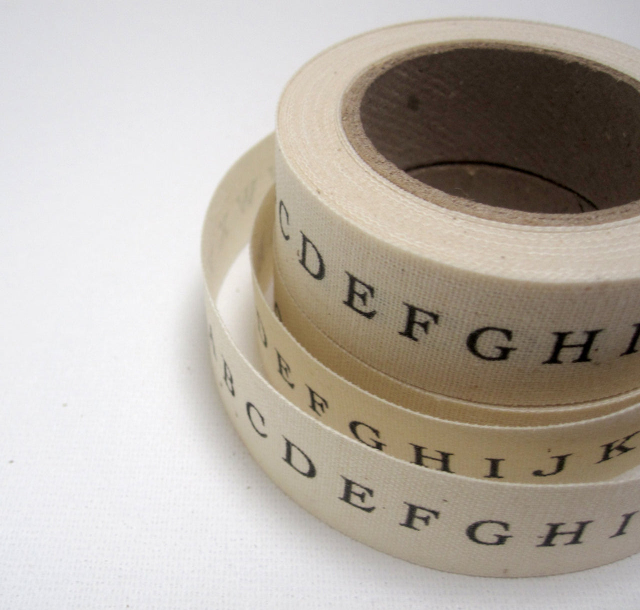 printed alphabet ribbon