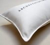 alphabet pillow - white