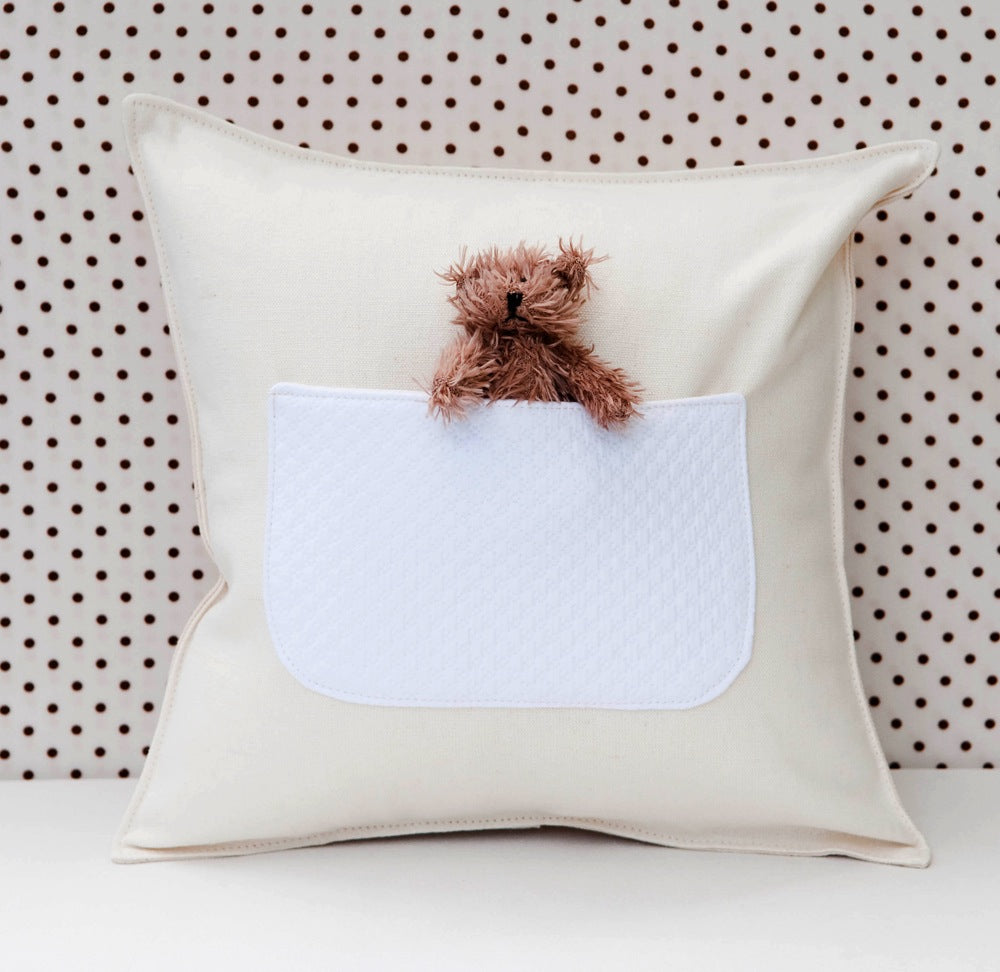 pocket pillow with bear