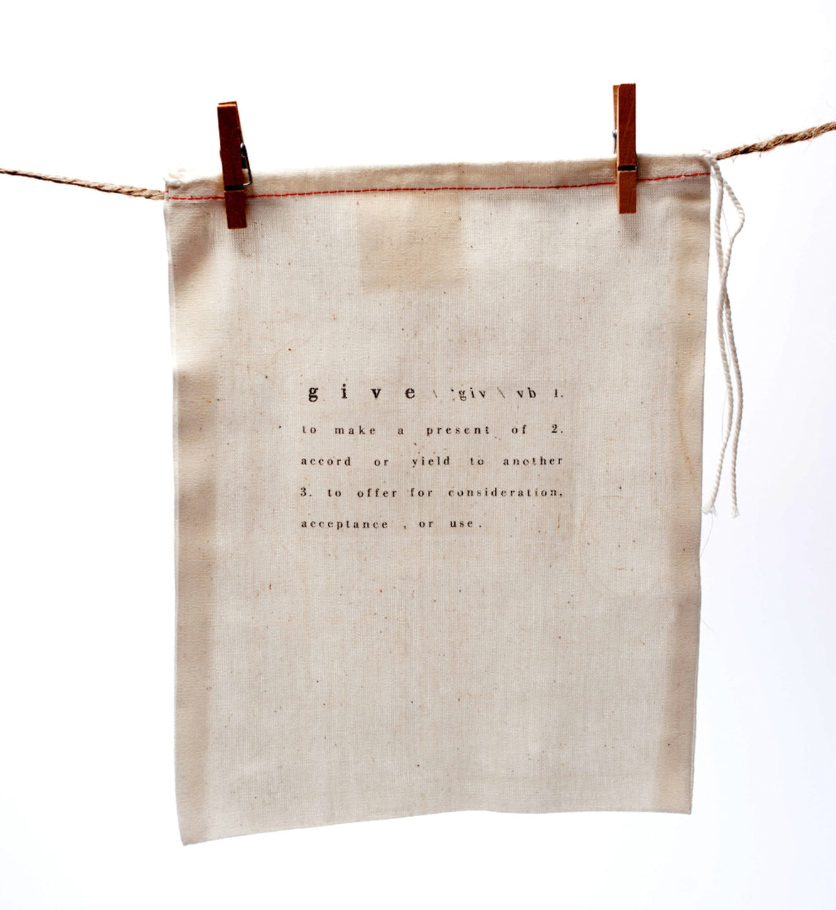 printed cotton bags with text