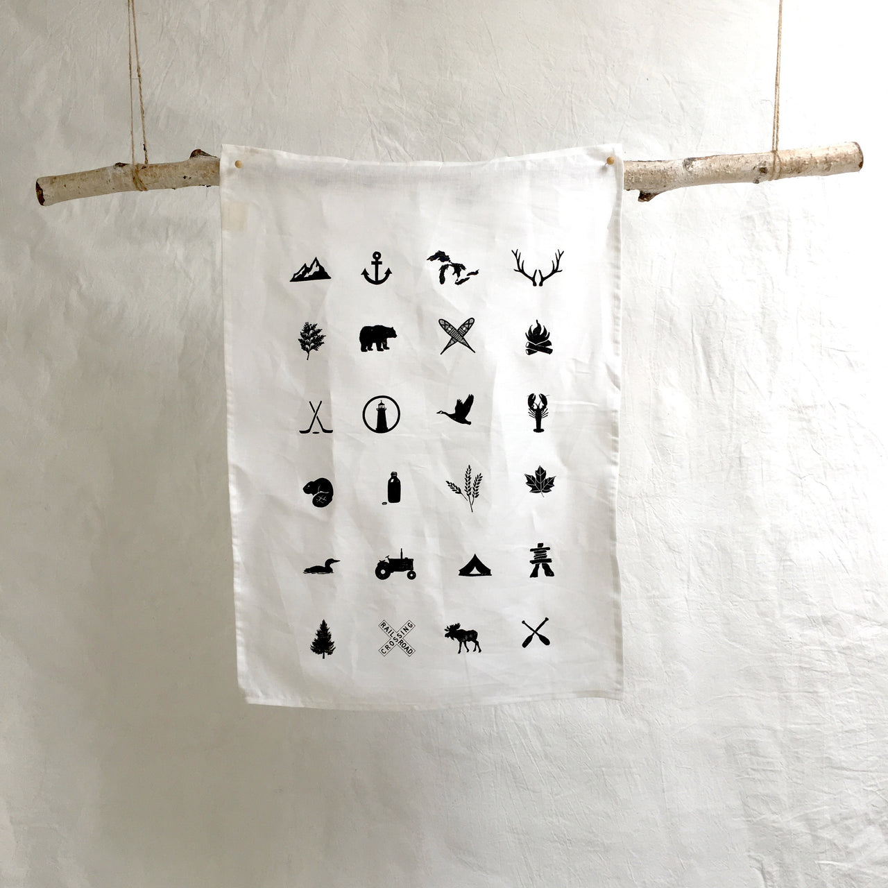canadian tea towels (white)