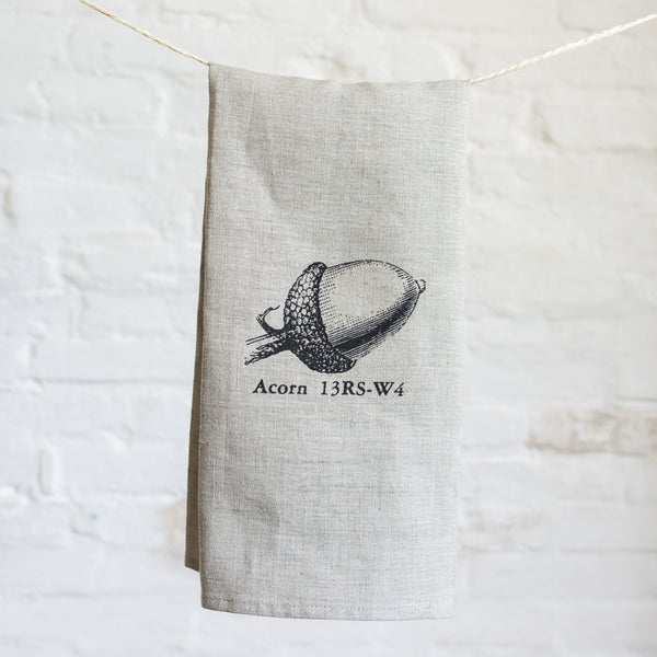 acorn tea towel