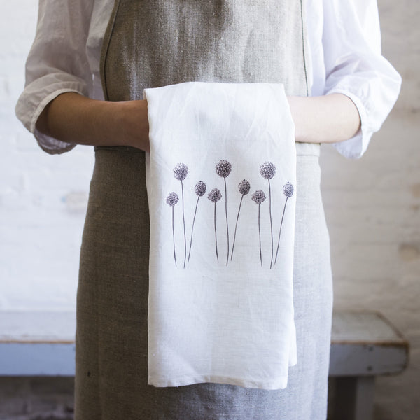 allium tea towel