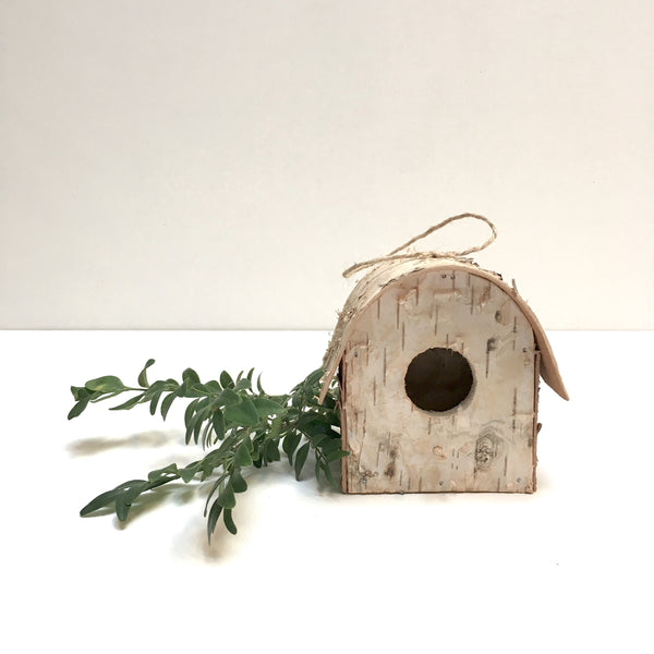 birch bird house