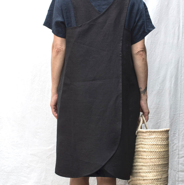 cross back smock (black)