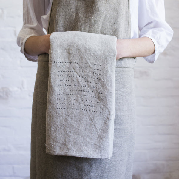 housekeeping tea towel