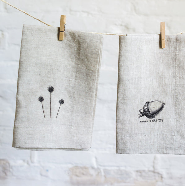 linen napkins with image