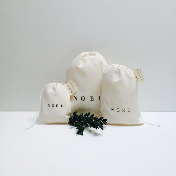 three cotton bags (noel)