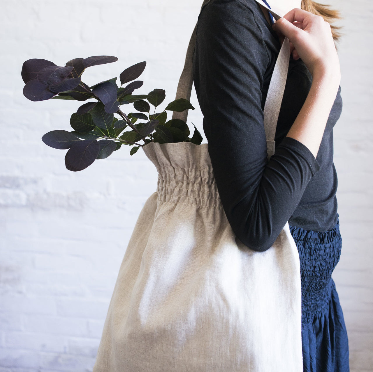 smocked bag (light)