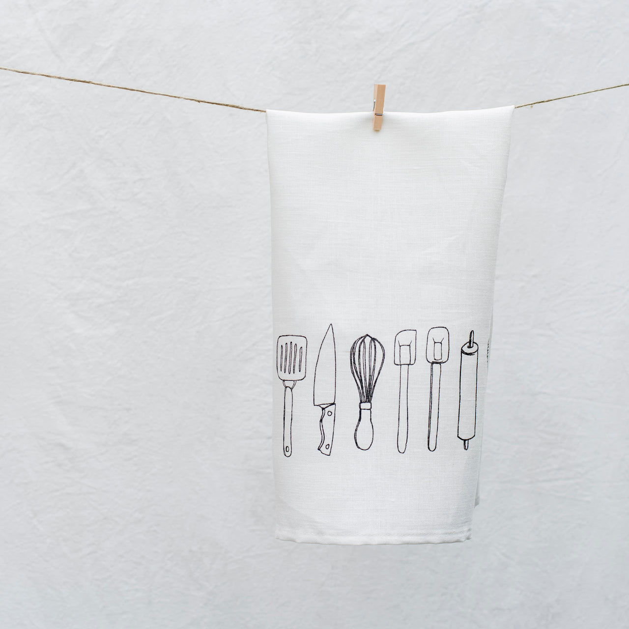 spoons tea towel