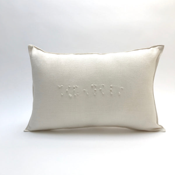 braille 'i love you' pillow