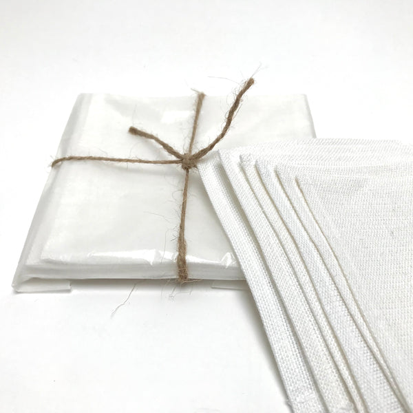 linen cocktail napkins (black or white)