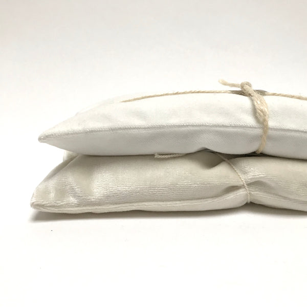 velvet eye pillow- white
