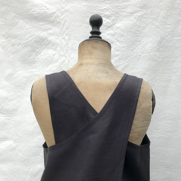 cross back smock (dark)