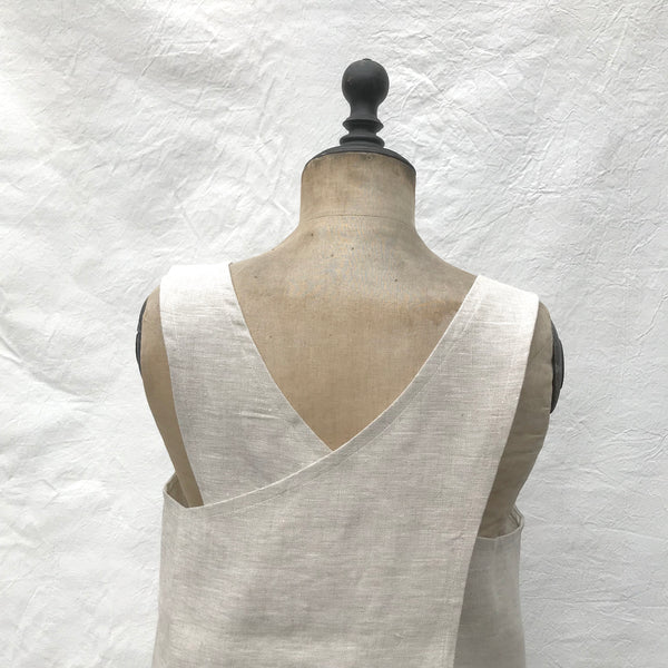 cross back smock (oatmeal)