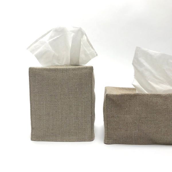 dark linen tissue cover