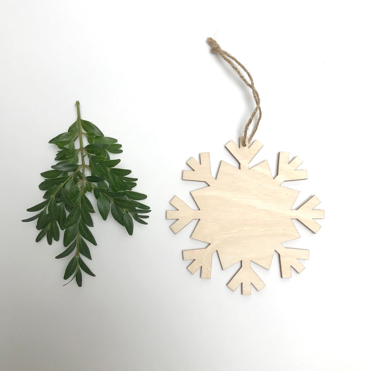large wood snowflake ornament