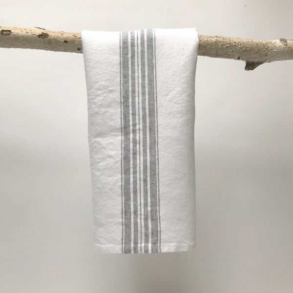 stone washed linen tea towels (white)