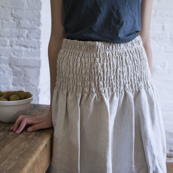 smocked half apron (top)