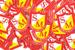S&M 100 Pack of  Shield Stickers