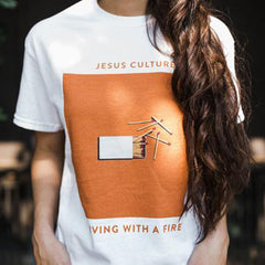 XL - Unisex Jesus Culture Living With a Fire Tee