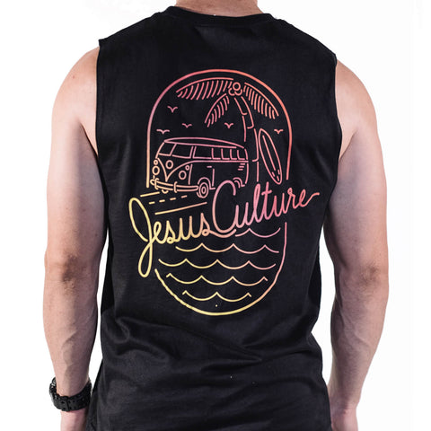 Unisex Summer Muscle Tank - Sunset