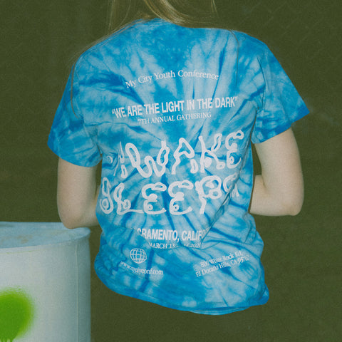 My City Tie Dye Awake Sleeper Tee - Unisex