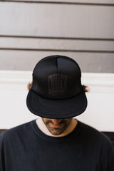 "Black ""Church"" Trucker Cap - Unisex"