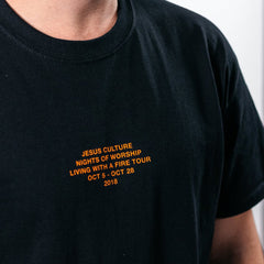 Unisex Living With a Fire Tour Tee