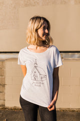 "Women's Jesus Culture ""Church"" Heather Grey Tee"