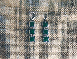 Triple Square Jade Essentials Earrings