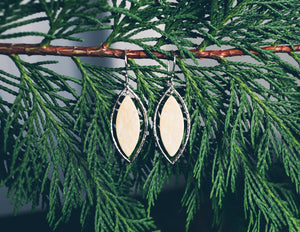 Mammoth Tundra Marquise Earrings