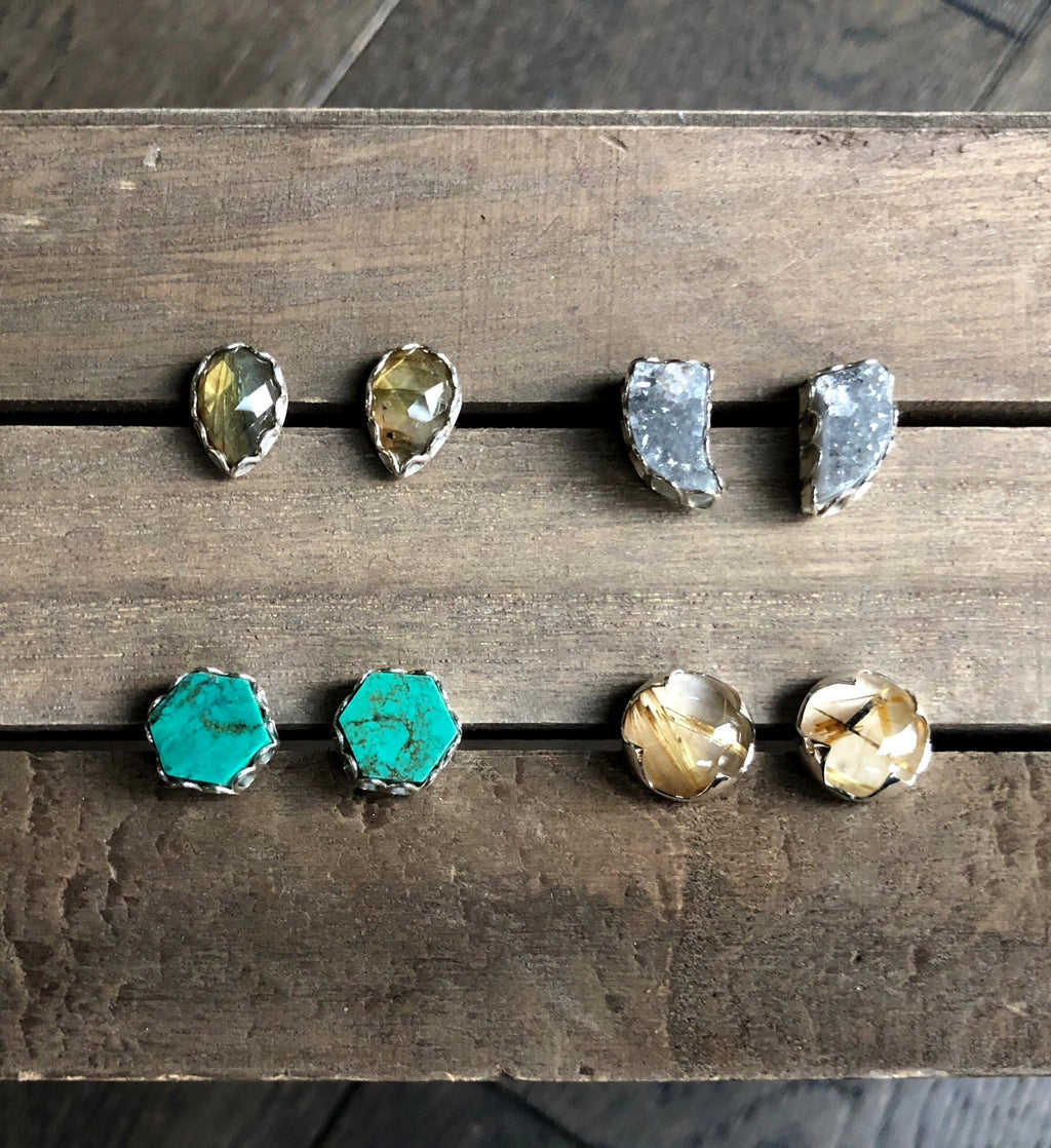 Druzy Tusk Earrings