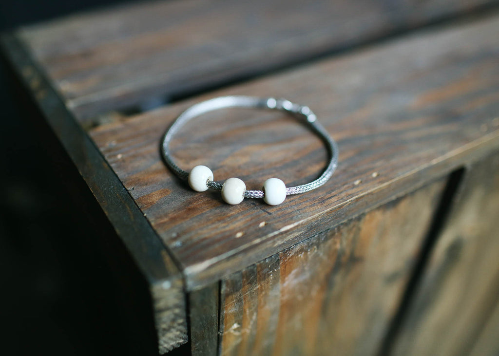 Sterling Silver & Mammoth Beads Bracelet
