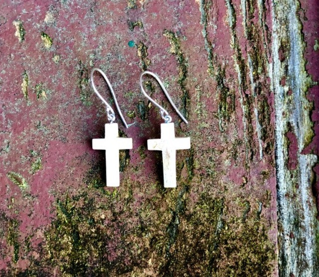 Mammoth Cross Earrings