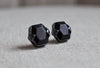 Faceted Vintage Ebony Wood Cufflinks