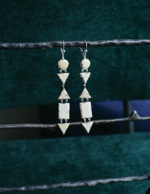 Linear Deco Lever Back Earrings