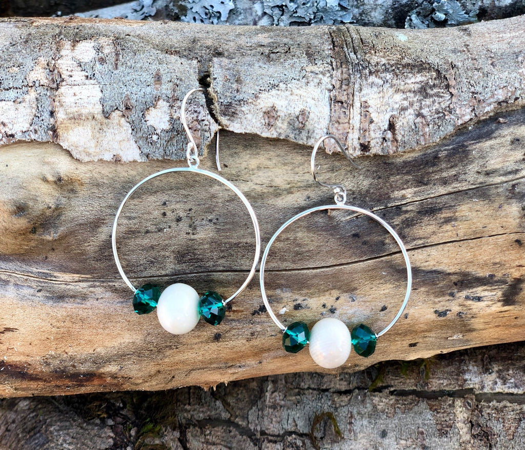 Faceted Hoop Earrings