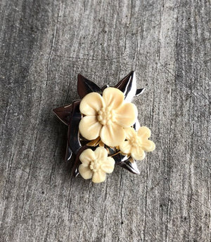 Triple Forget Me Not Pin/ Pendant