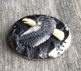 Flying Eagle on Oval Pin/ Pendant