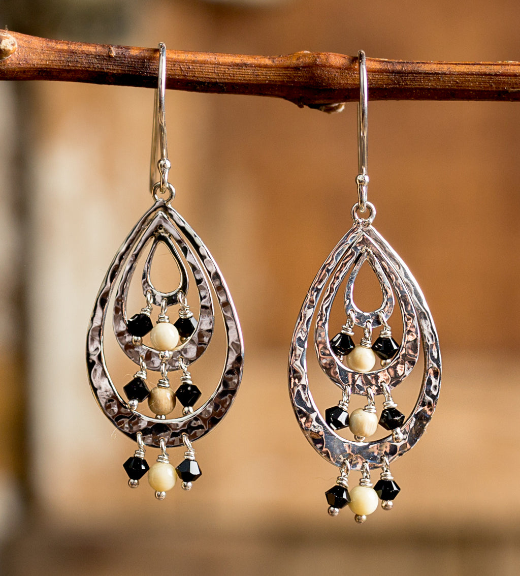 Hammered Loops Earrings