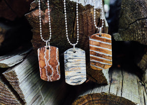 Mammoth Tooth Dog Tag Necklace