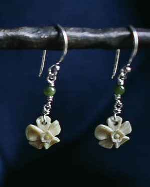 Forget Me Not with Jade Earrings
