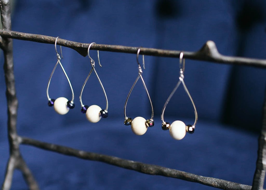 Faceted Rain Drop Earrings